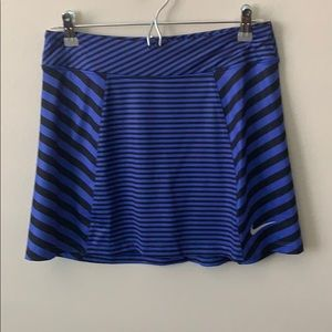 Blue and Black Nike Golf Skirt